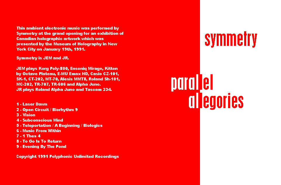 Symmetry - Parallel Allegories