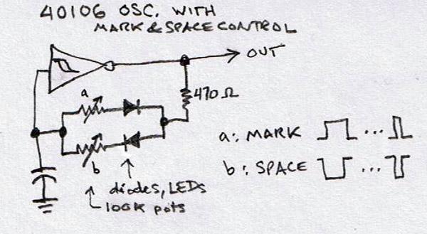 74hc14 circuit not working