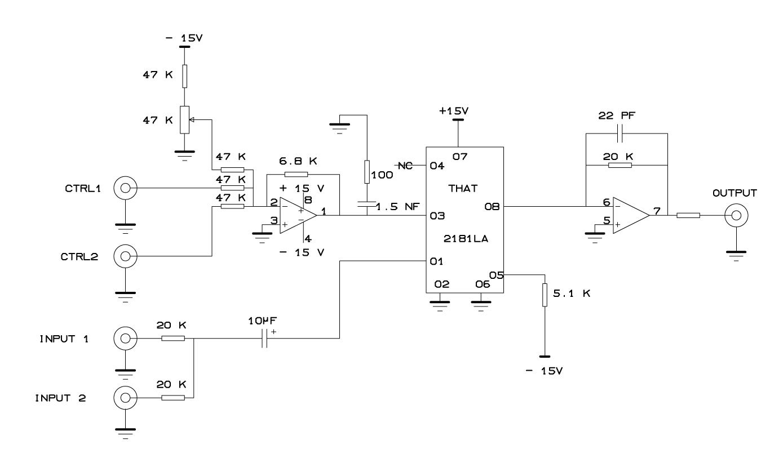 electro-music com wiki | Schematics / Voltage Controled Amplifier