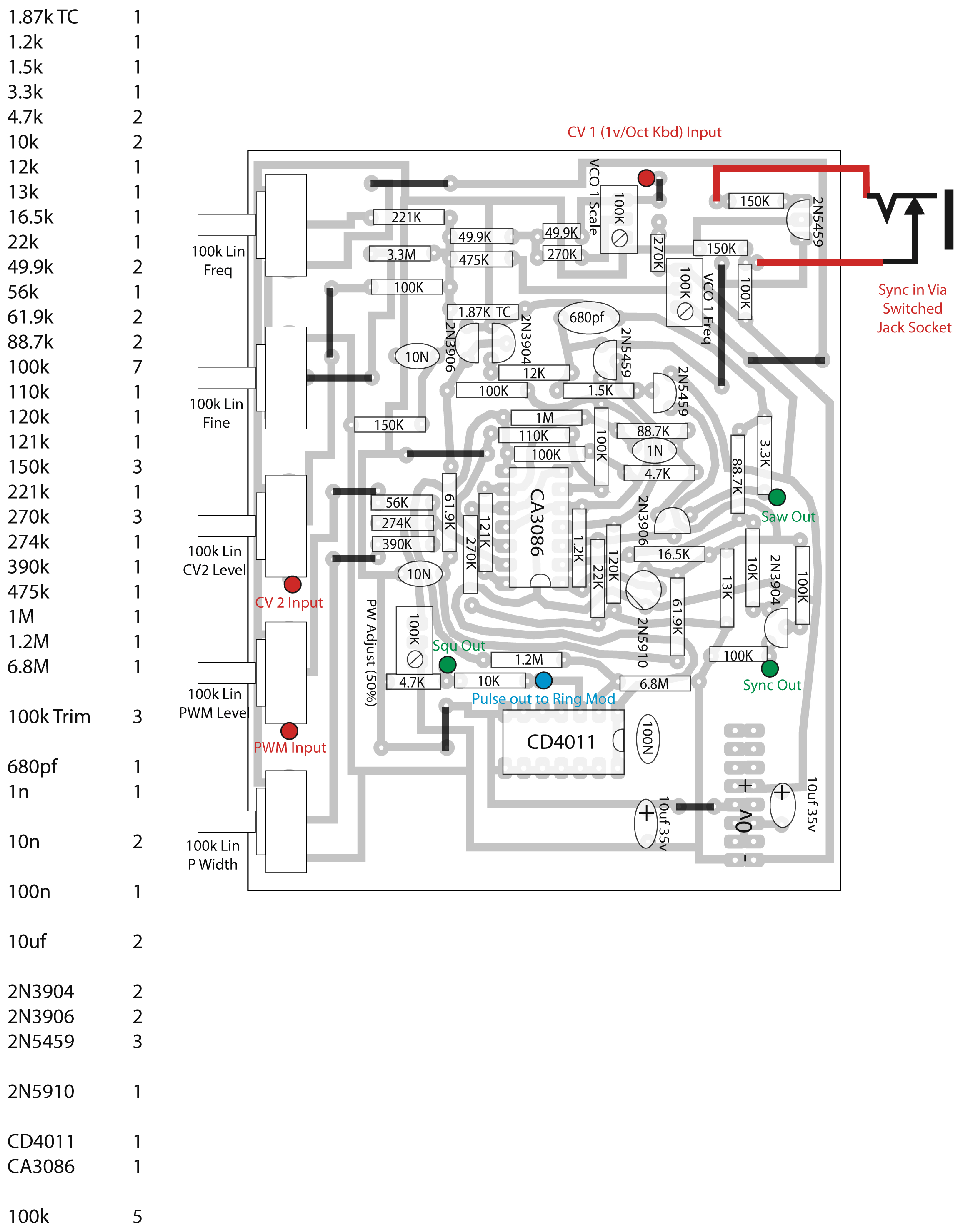 synthesizer wiring diagram wiring diagram