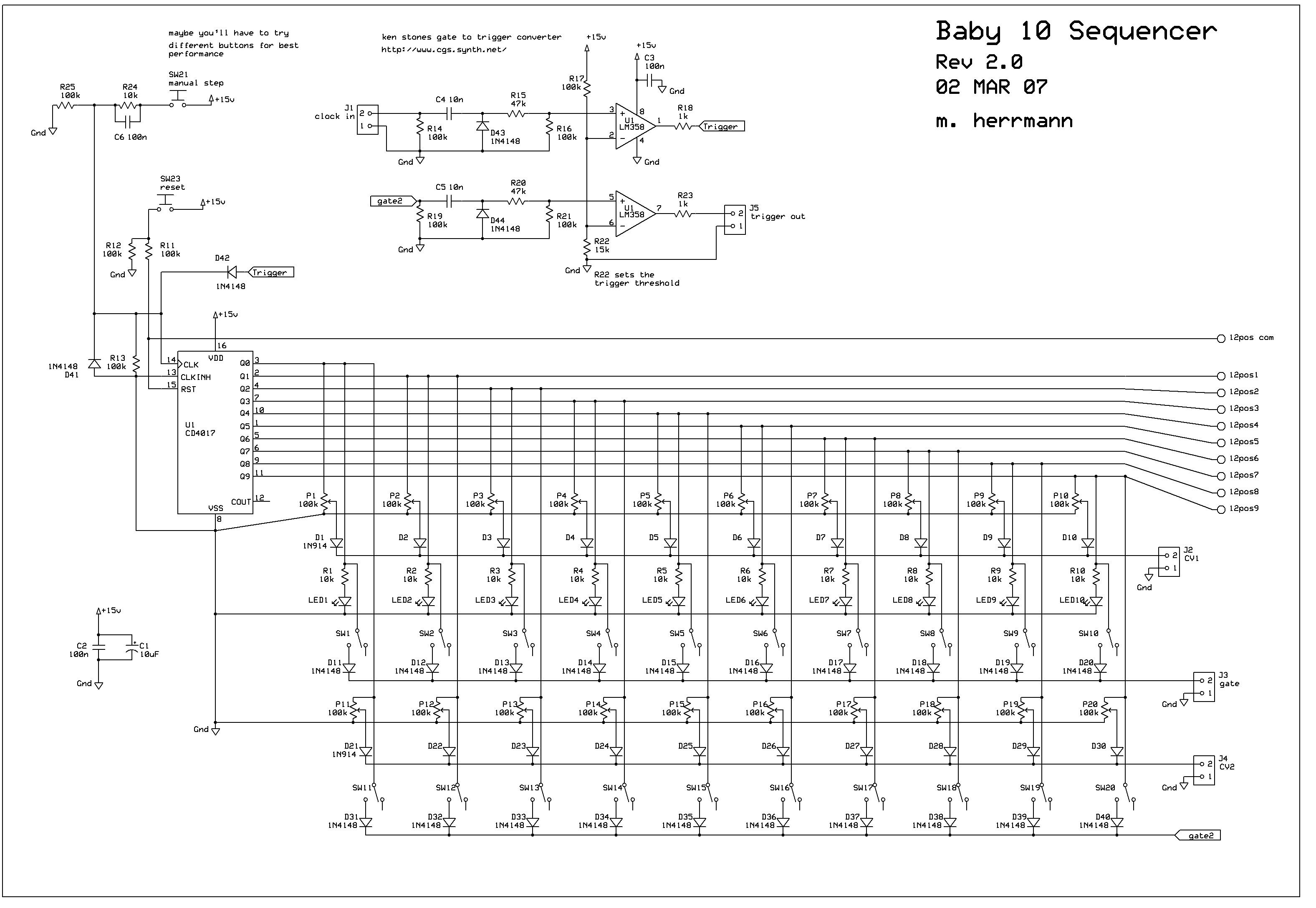 sequencer 8 step sur base mk 107 velleman