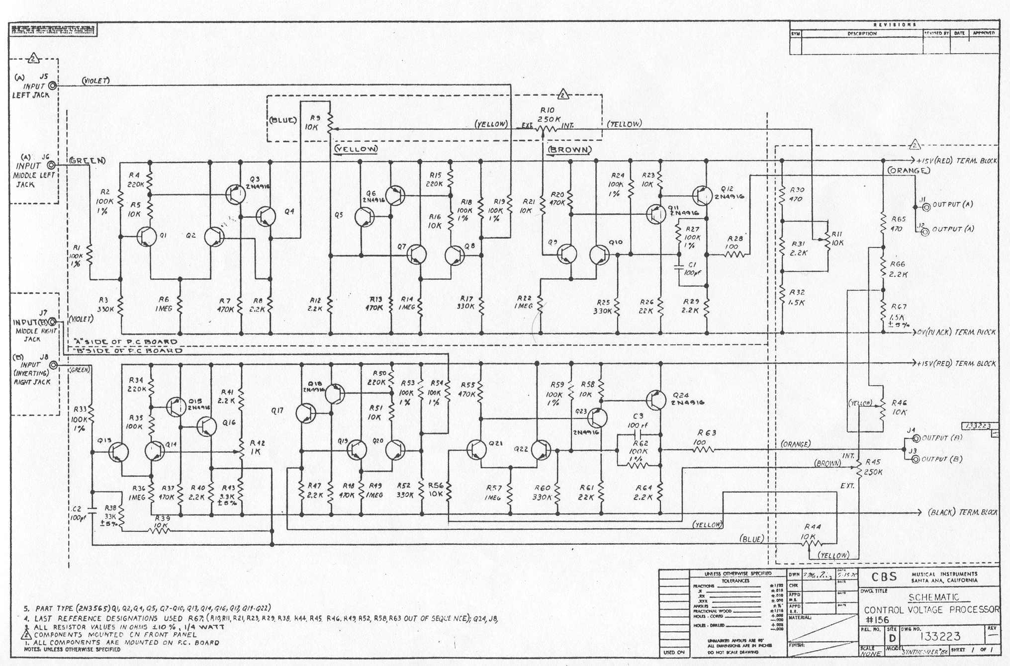 < Tube experimenter board | Schematics | Arp 4035 VCF > < Tube experimenter  board | Listbytype | Paia Gator >