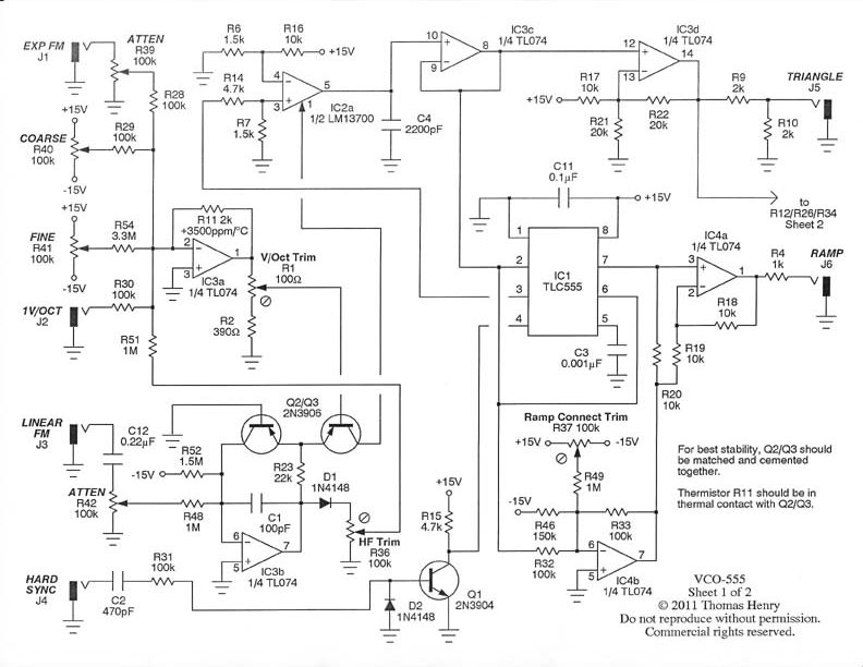electro-music.com wiki | Schematics / VCO 555 By Thomas Henry on