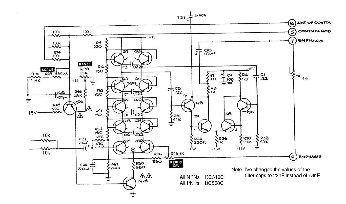 electro-music com wiki | Schematics / Four Pole Lowpass Filter