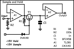 electro music com view topic schematics vaultSample And Hold Circuit Using Ca3140 Op Amp #5