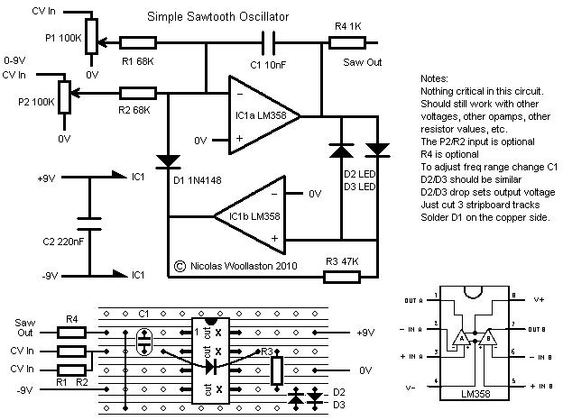 Fantastic Spanningsgestuurde Zaagtandgenerator Voor Theremin Forum Wiring 101 Akebretraxxcnl