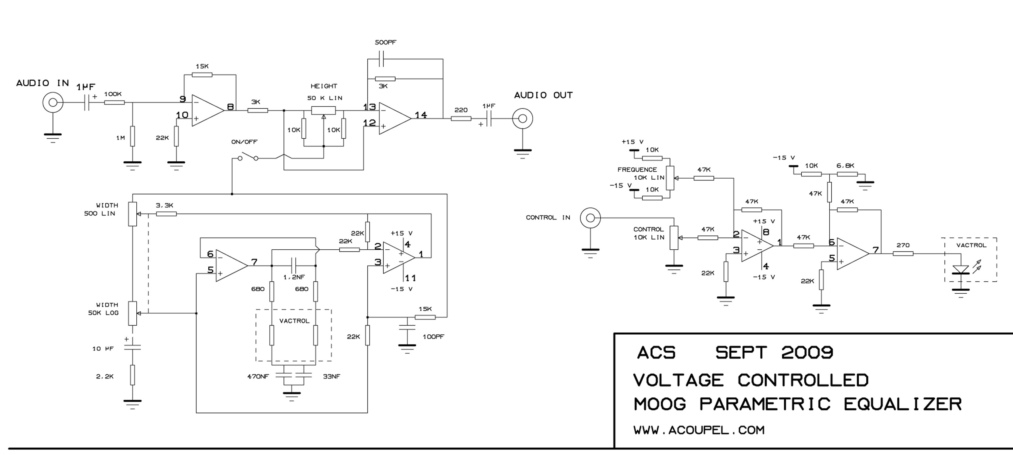 Wiki Schematics Moog Parametric Equalizer Graphic Circuit Diagram