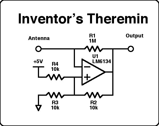 theremin schematic diagram