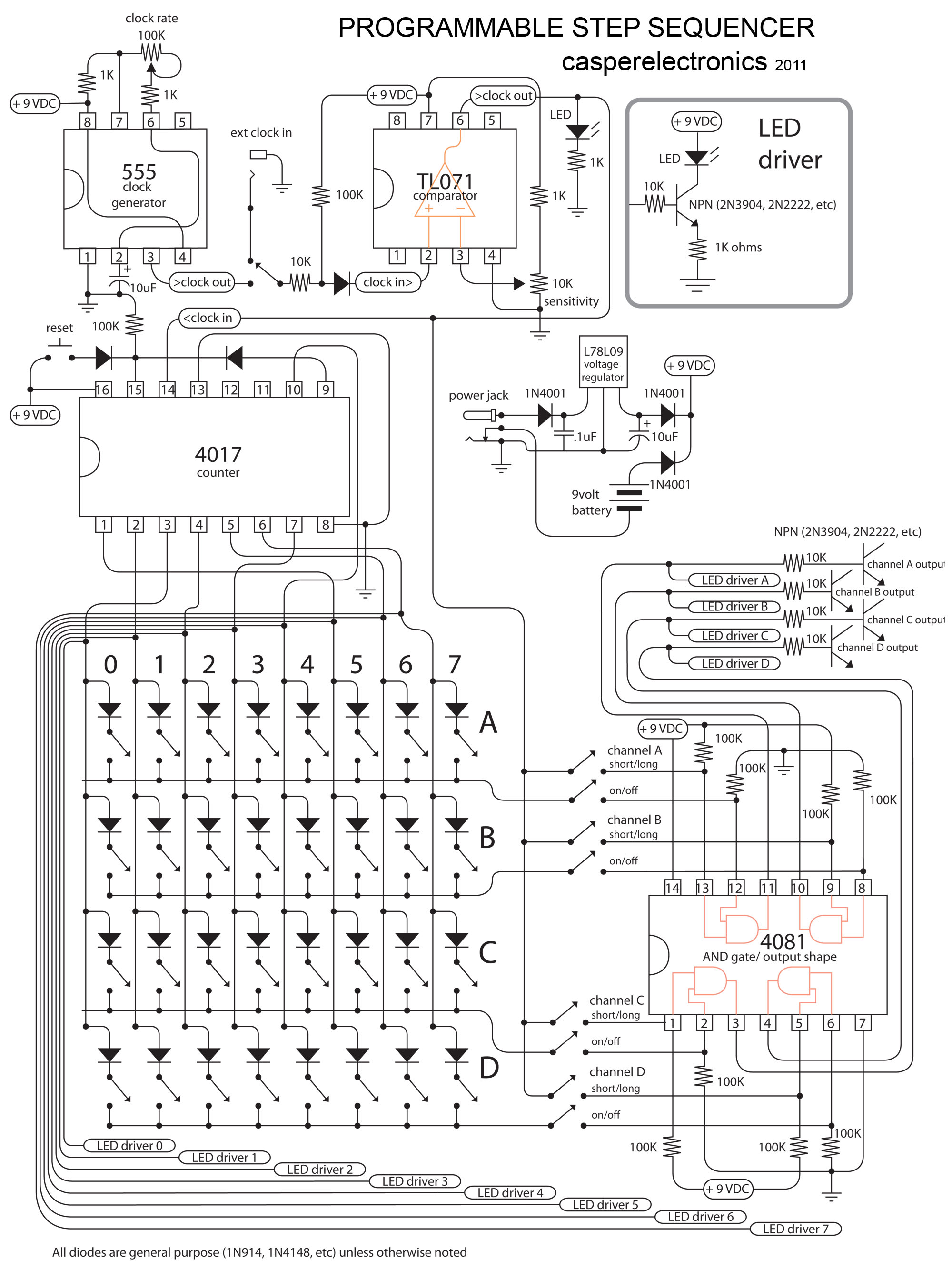 electro-music.com wiki | Schematics / Step Sequencer By Casper ...