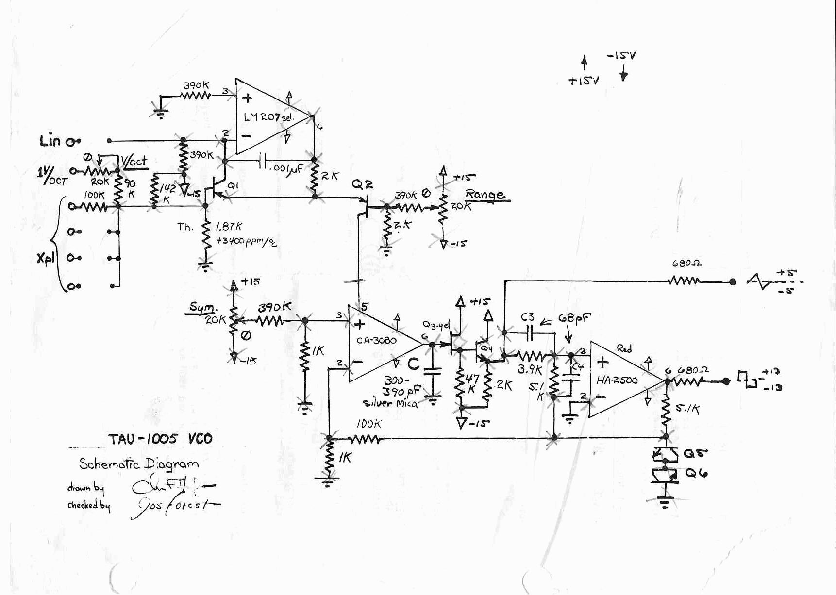 Wiki Schematics Tau 1005 Vco Circuit Diagram