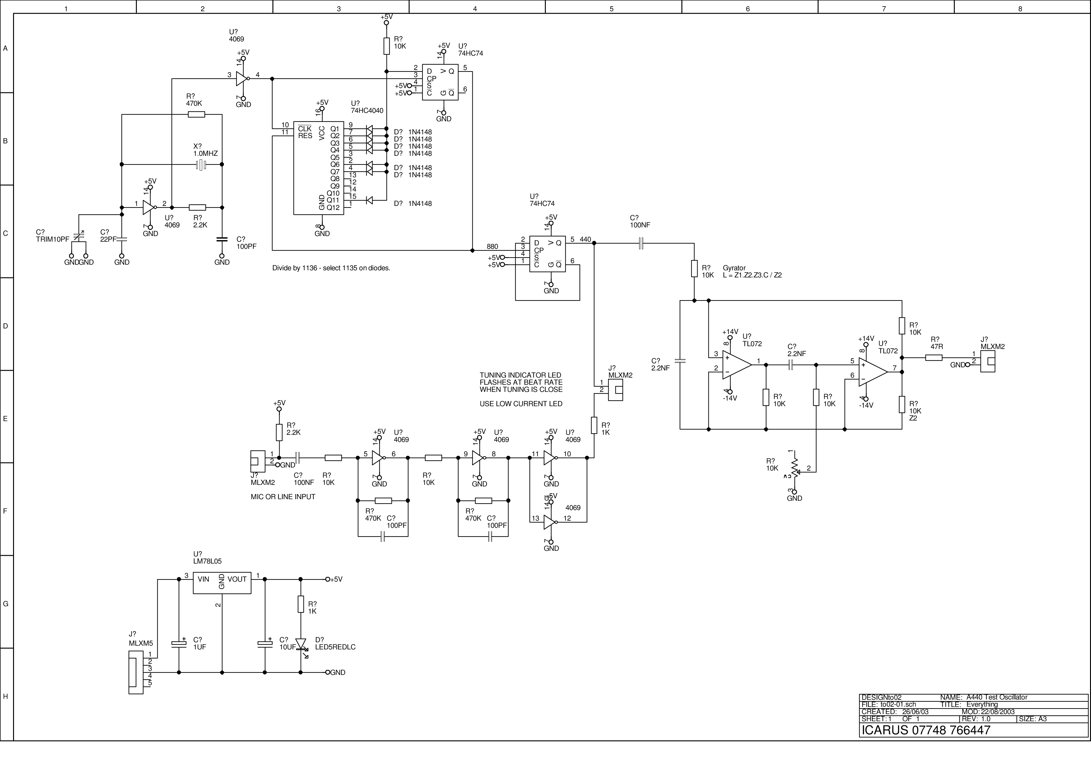 Wiki Schematics A 440 Oscillator Version X Accurate Sine Wave Generator Circuit Schematic Diagram I Thought It Was Time For Crystal Controlled Reference Design The Requirements Were Standard Stability Easily Good Enough
