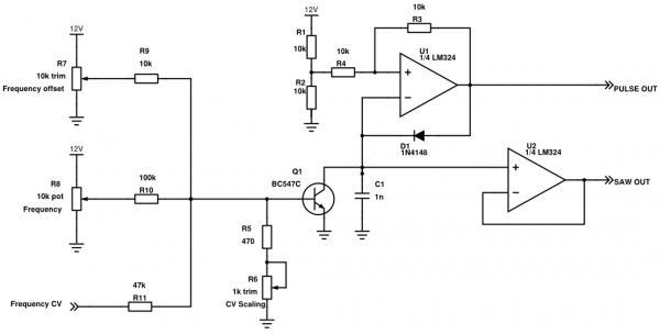 electro-music com :: View topic - Single Op Amp SAW VCO