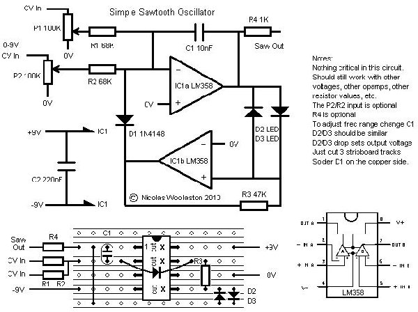 electro-music.com :: View topic - Very simple sawtooth VCO ... on gps schematic, ups schematic, lcd schematic, usb schematic, schmitt trigger schematic,