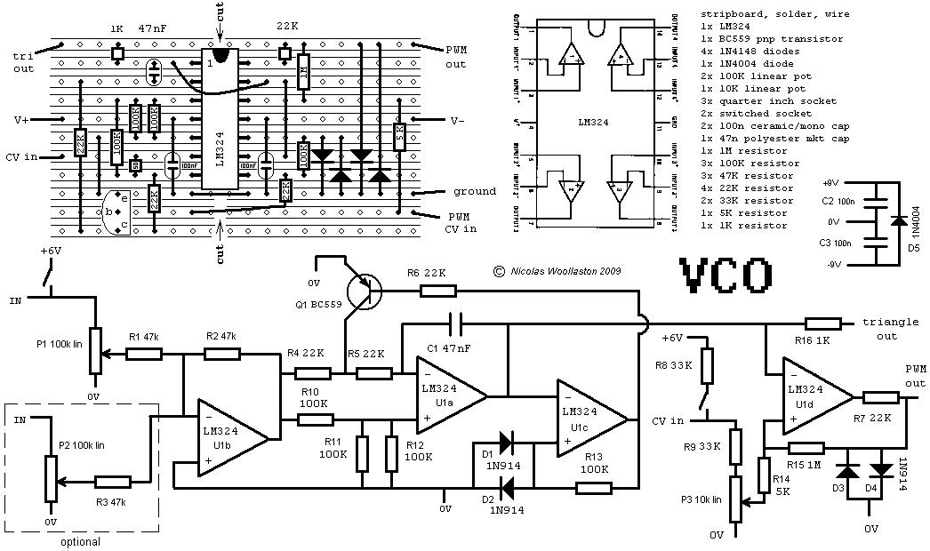 muff wiggler view topic what is the simplest vco you know rh muffwiggler com VCO Schematic Block Diagram VCO 1V per Octave Schematic