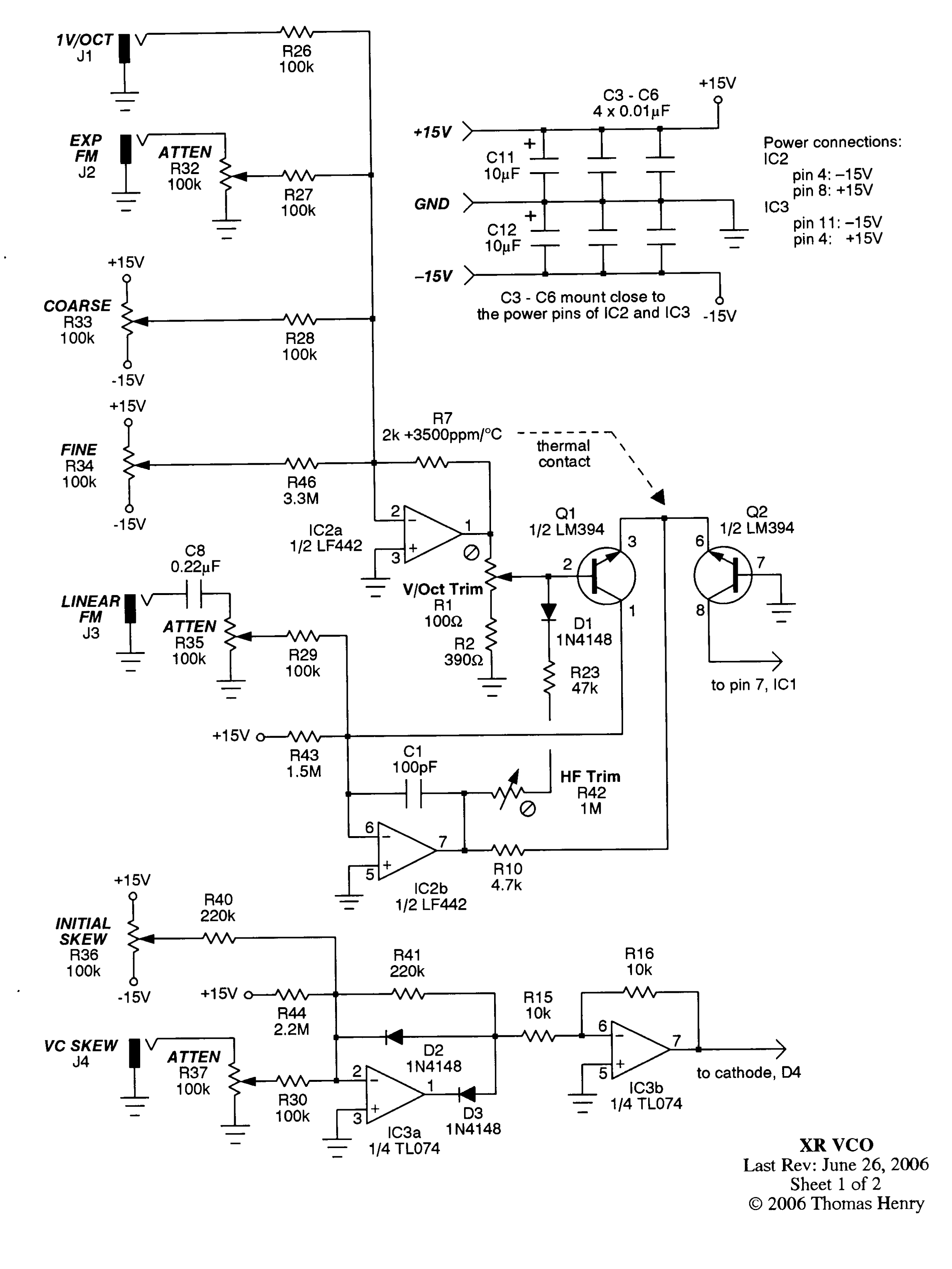 Wiki Schematics The Xr Vco Project Voltage Controlled Divide By N Sn Voice Digital Oscillator Vcdo1 Listbytype